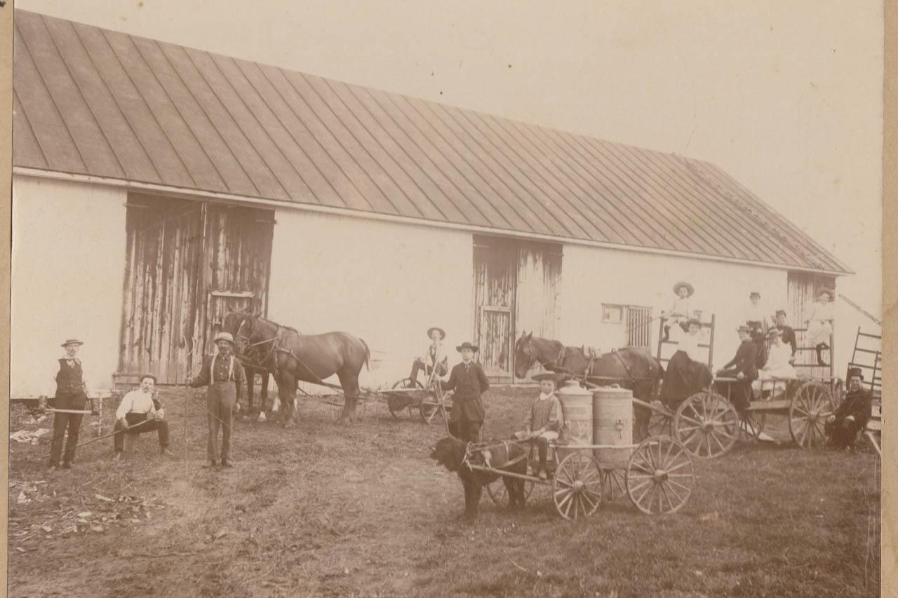 1900 Cultivateurs  U00e0 Saint