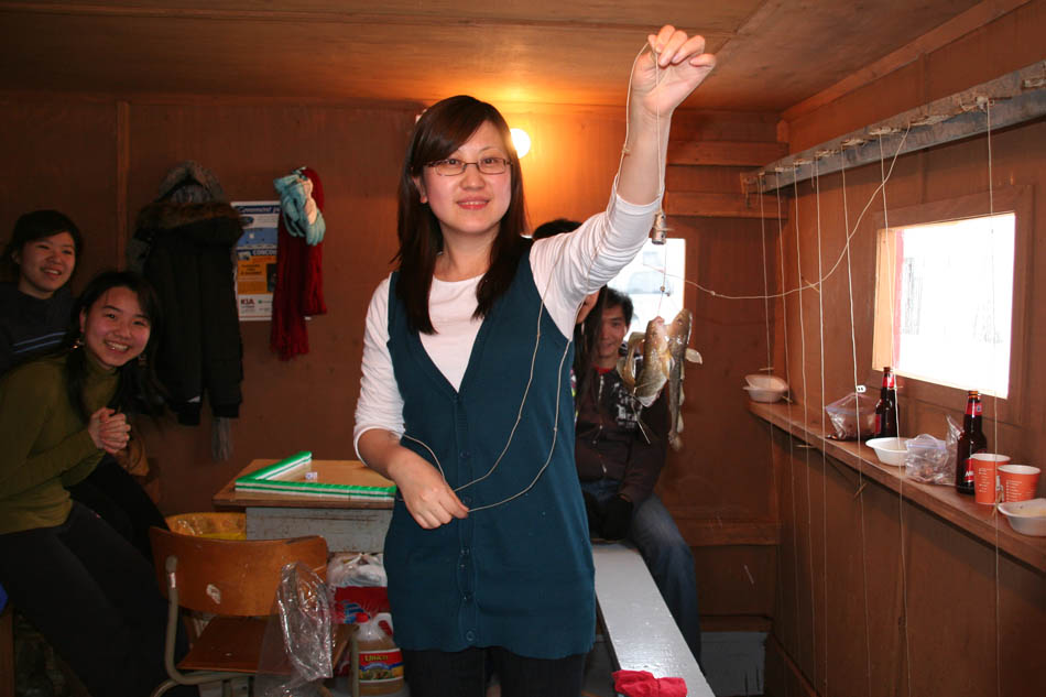 La pêche dhiver tom